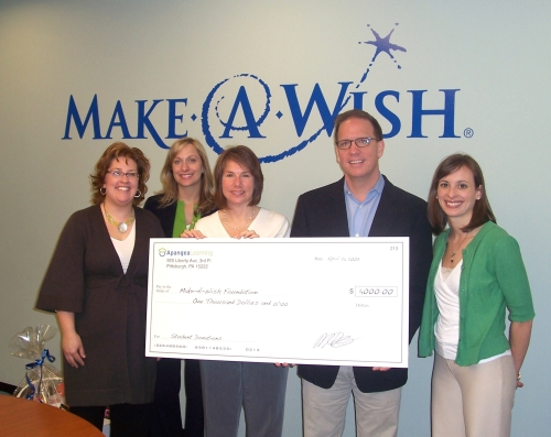 Apangea Doantes $1,000 to Make-A-Wish on behalf of Apangea students.